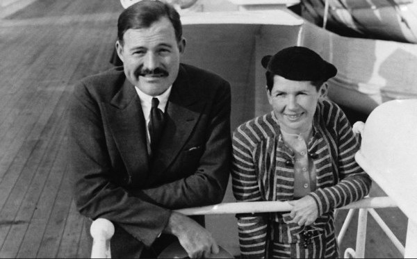 Ernest Hemingway with his second wife Pauline
