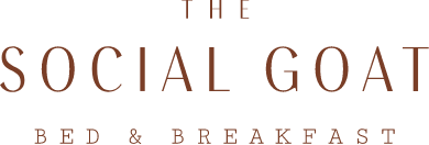 The Social Goat Bed and Breakfast logo scroll