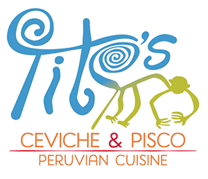 Tito's Ceviche & Pisco logo scroll