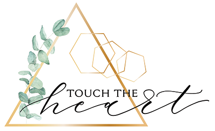 Touch the Heart logo scroll