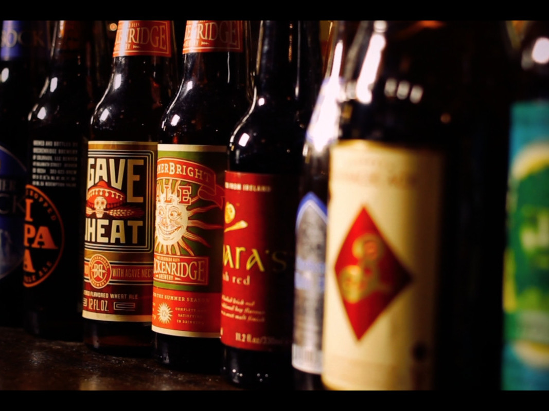 different types of imported bottled beer