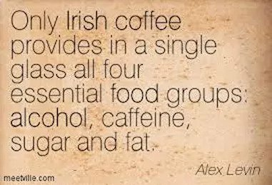 irish coffee old saying