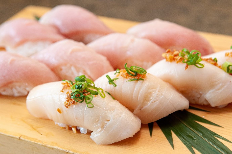 Raw fish closeup
