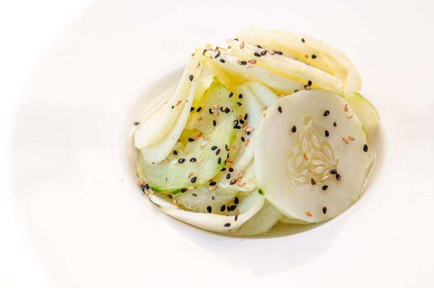 Zucchini and seeds salad