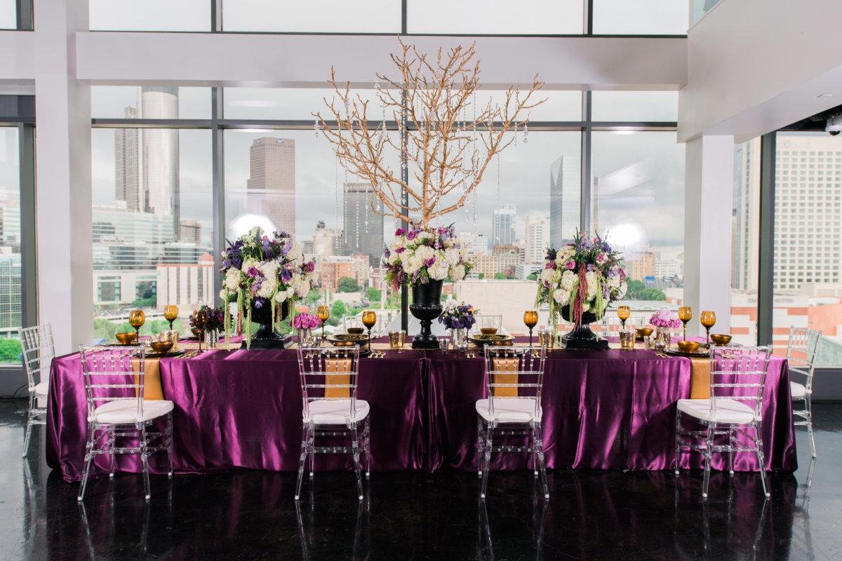 purple estate table