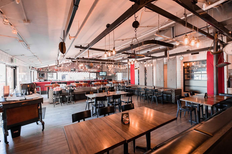 Restaurant interior with bar
