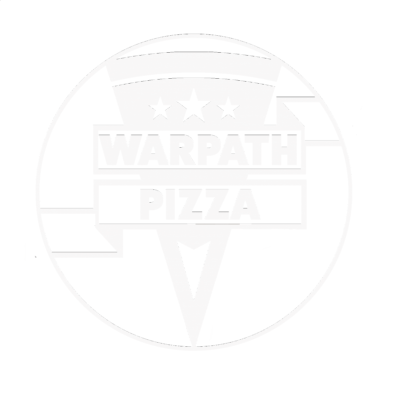 Warpath Pizza & Pub logo scroll