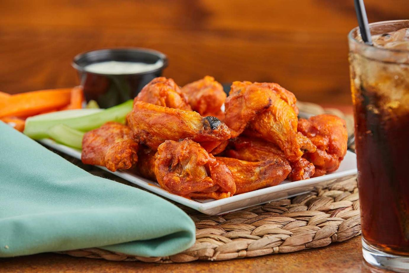 chicken wings with coke