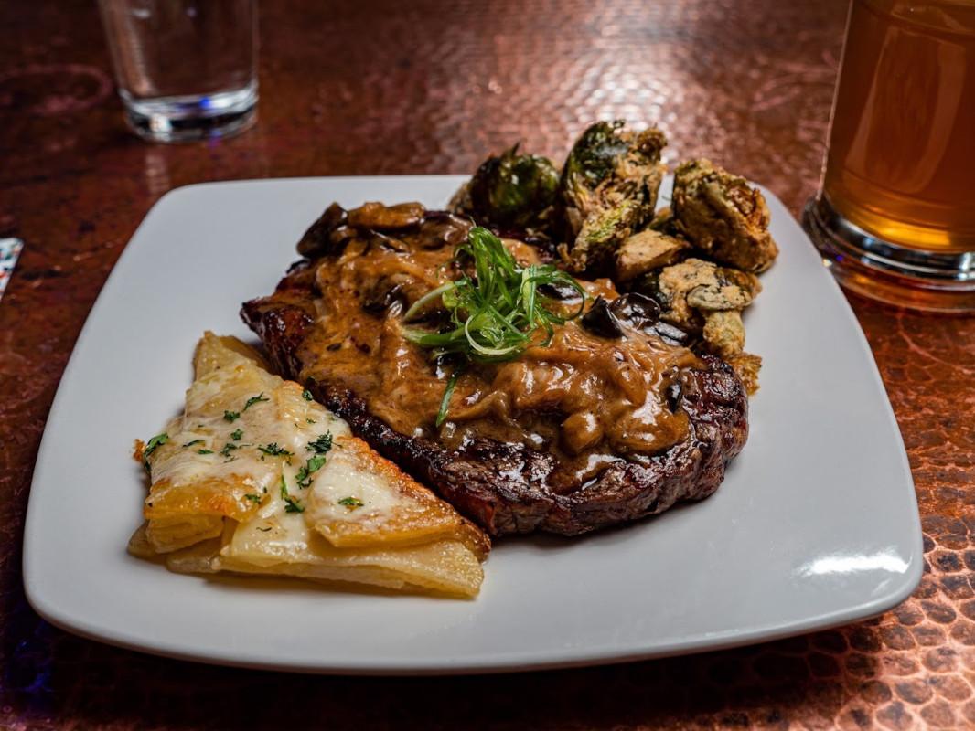 Deliciously prepared featured Steak