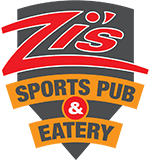 Zi's Sports Pub and Eatery logo scroll